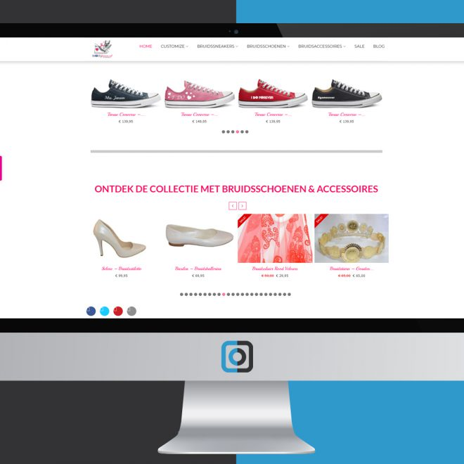 Website project Bruidssneakers | Digifresh